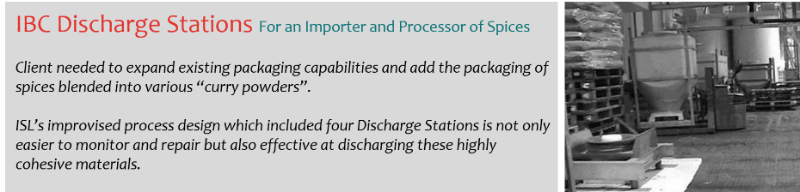 IBC Discharge Stations in Food Industry